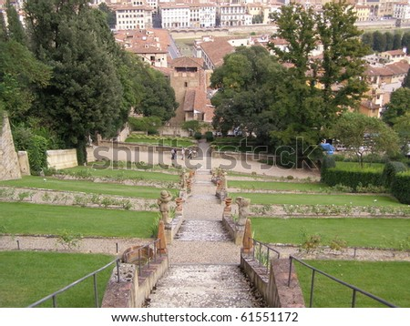 Italian garden giardino di boboli firenze stockfoto jetzt