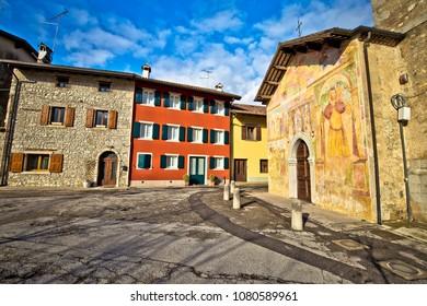 Italian heritage in Cividale del Friuli Natisone river ancient skyline view, Friuli-Venezia Giulia region of Italy