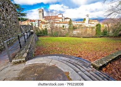 Italian heritage in Cividale del Friuli ancient skyline view, Friuli-Venezia Giulia region of Italy