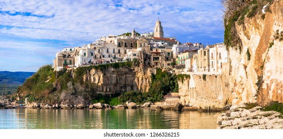 Italian holidays- picturesque coastal town Vieste in Puglia