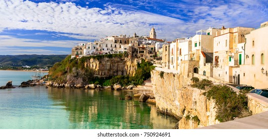 Italian holidays in Puglia - picturesque town Vieste