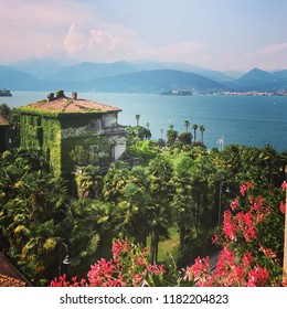 Italian hotel views over lake maggiore