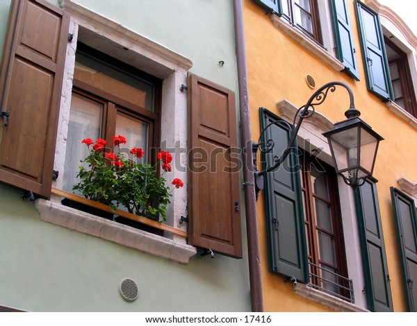 Italian house fronts