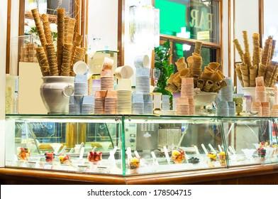 Italian ice cream bar