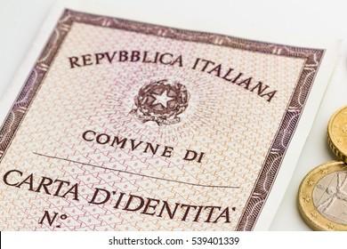 italian identity card