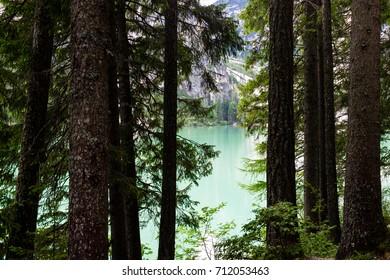 Italian lake famous landscape