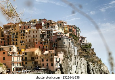 Italian landmark city of Manarola
