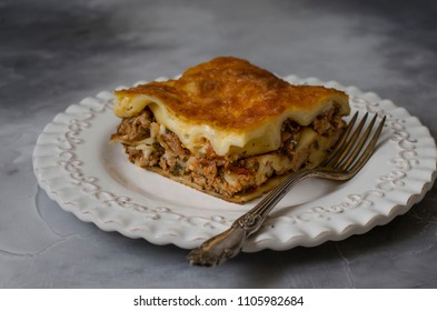 Italian Lasagna with meat tomatoes and Parmesan cheese