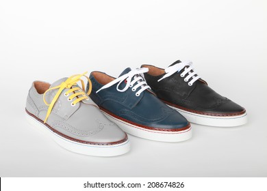 Italian leather sport shoes
