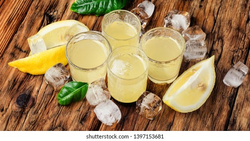 Italian lemon liqueur.Limoncello - the most popular local liqueur