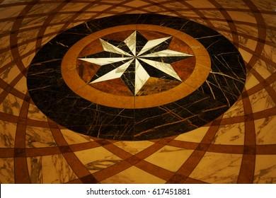 Italian marble floor pattern