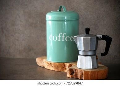 Italian mocha and coffee