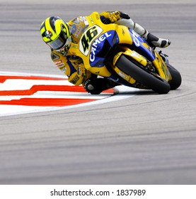Italian MotoGP rider Valentino Rossi -Camel Yamaha team