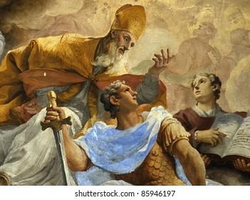 Italian mural, Florence, italy