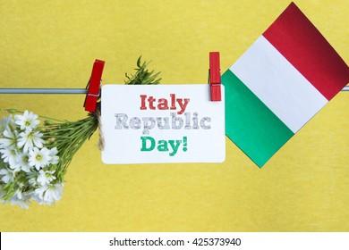 Italian National Republic Day. Italy Republic Day - card