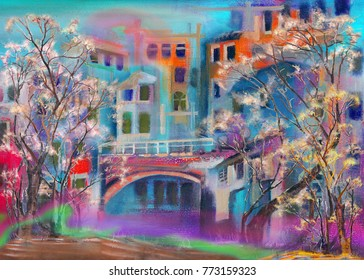 Italian night citysketch