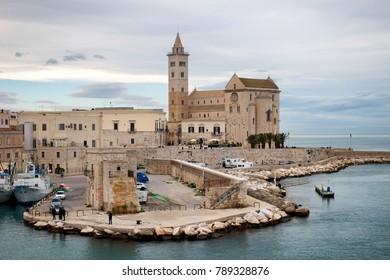 Italian old city sea, Apulia, Trani