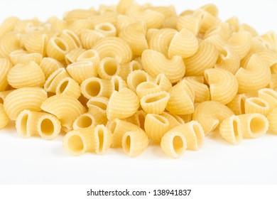 italian pasta (macaroni) isolated on white background