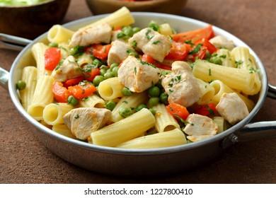 Italian pasta macaroni with meat