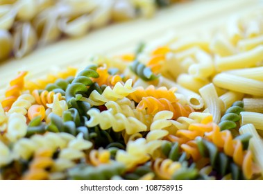 Italian pasta macro shot