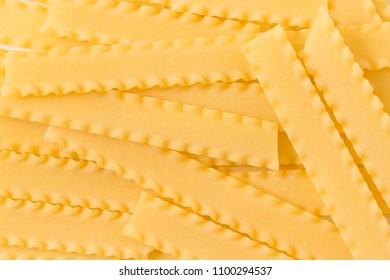 Italian pasta (mafalde). Pasta background .