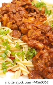 italian pasta with meat