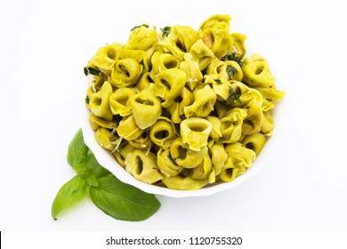 italian pasta tortellini Isolated in white background