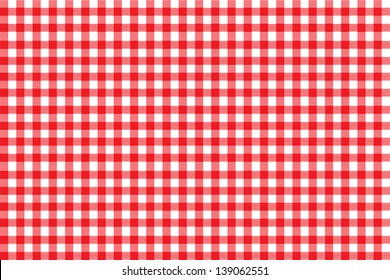 Italian picnic tablecloth with red pattern