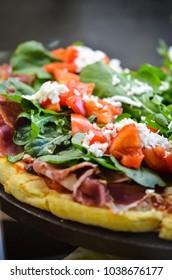 italian pizza close up
