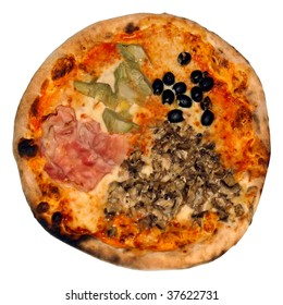 Italian Pizza Le Quattro Stagioni (The Four Seasons)