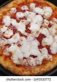 Italian Pizza with Tomato and Mozzarella