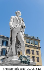 Italian playwright and librettist Carlo Osvaldo Goldoni statue located in Florence, Italy