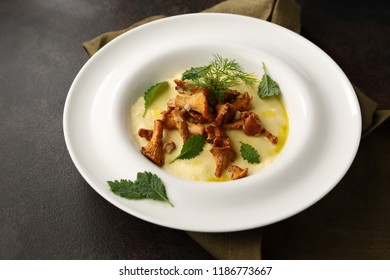Italian polenta with mushrooms