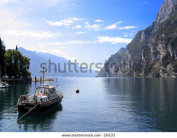 Italian police boat