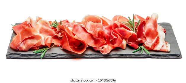 Italian prosciutto crudo or spanish jamon