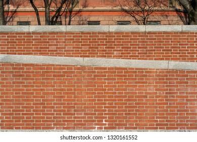 Italian red bricks on Naviglio Darsena district