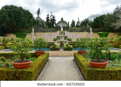 Italian Renaissance Garden in Hamilton Gardens in New Zealand