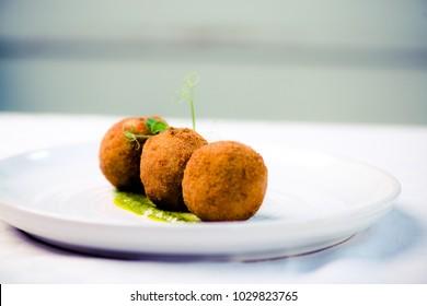 Italian Restaurant Food Arancini