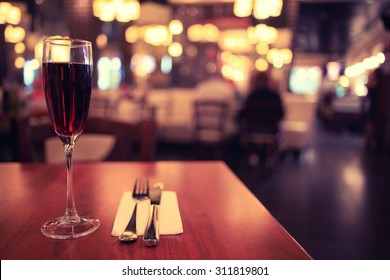 Italian restaurant serving table background