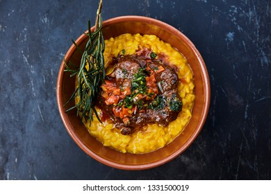 Italian Risotto with beef in sauce