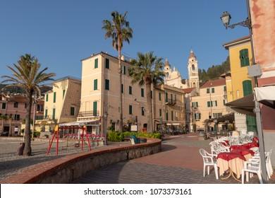 Italian Riviera, Laigueglia. Famous tourist destination in region of Liguria