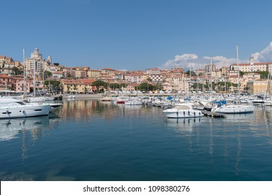 Italian Riviera. Seafront at the tourist resort town Imperia