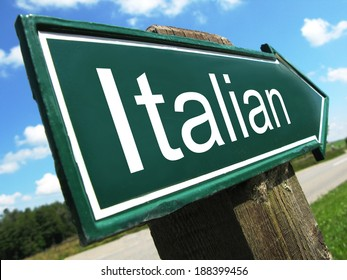 Italian road sign
