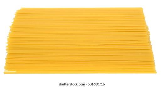 italian spaghetti isolated on white background