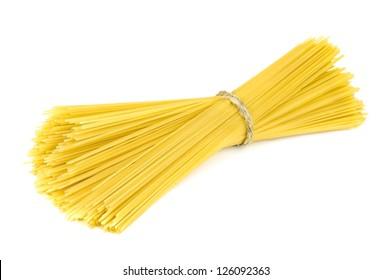 italian spaghetti on white background