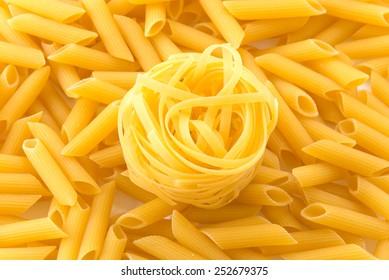 Italian spaghetti pasta dried food