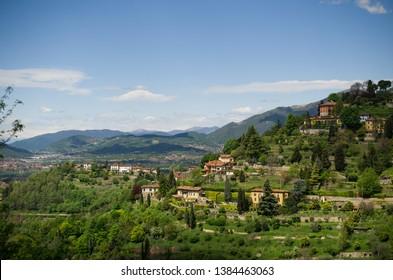 Italian spring mountain view, Lombardy