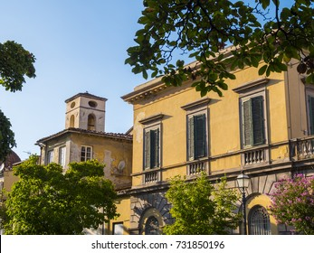 Italian style buildings in the Tuscan city of Lucca