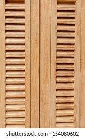Italian style wood window
