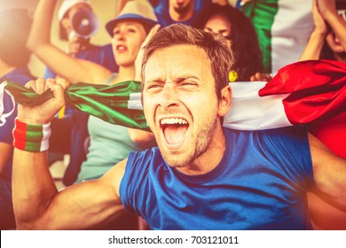 Italian Supporter at the Stadium, Soccer Championship